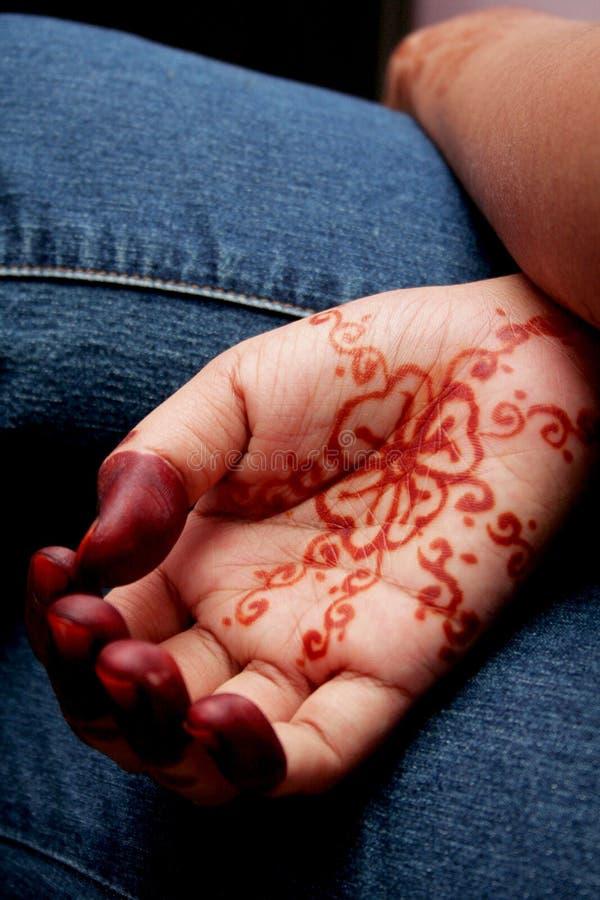 Räcka Henna royaltyfri fotografi