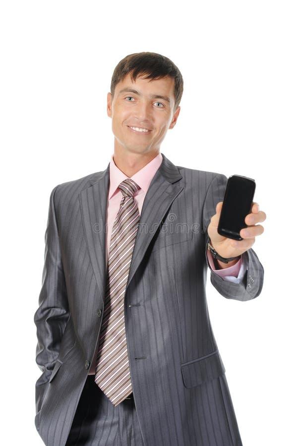 räcka mantelefonen royaltyfri foto