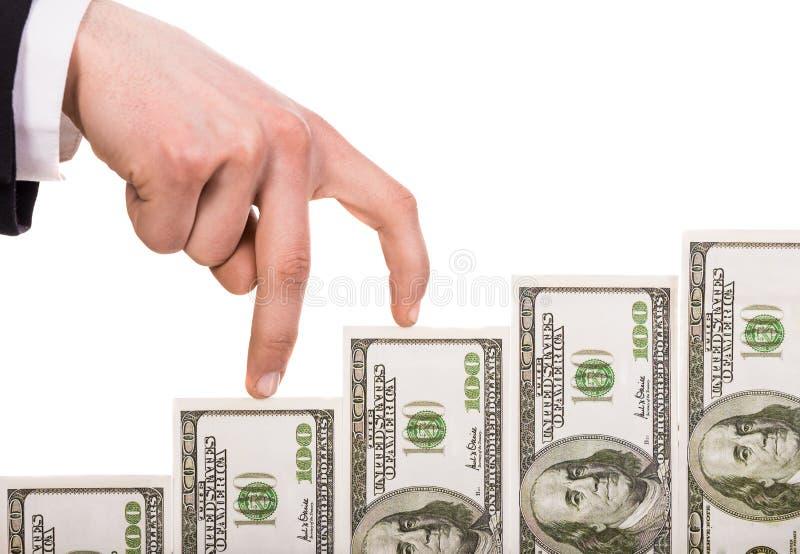 Räcka med pengar royaltyfri fotografi