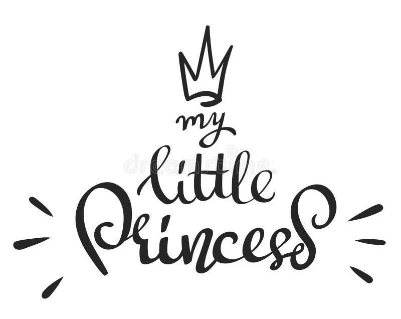Räcka utdragen vektorbokstäver - min lilla prinsessa - stock illustrationer