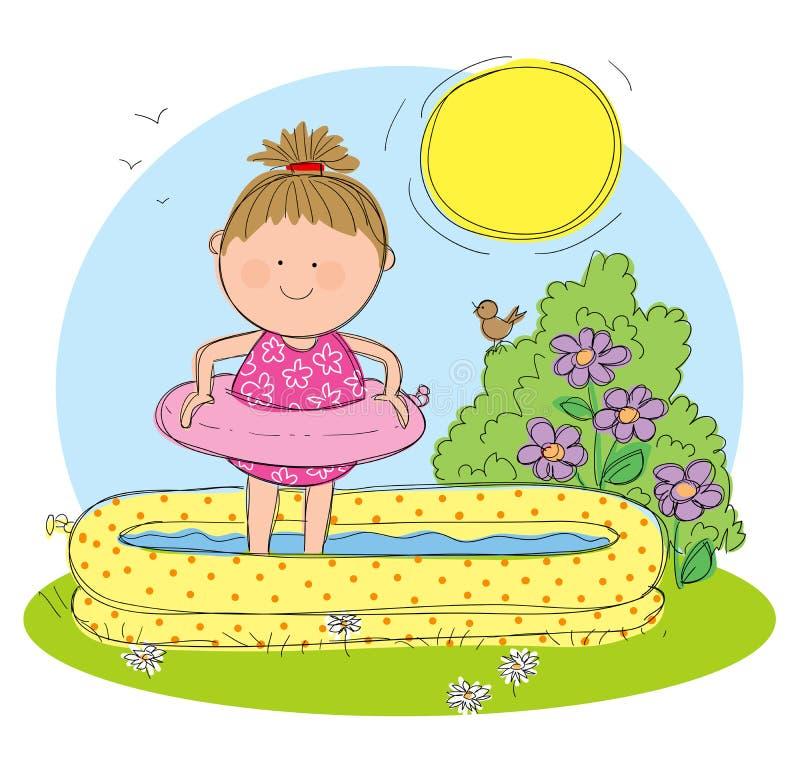 Sommarsäsong stock illustrationer