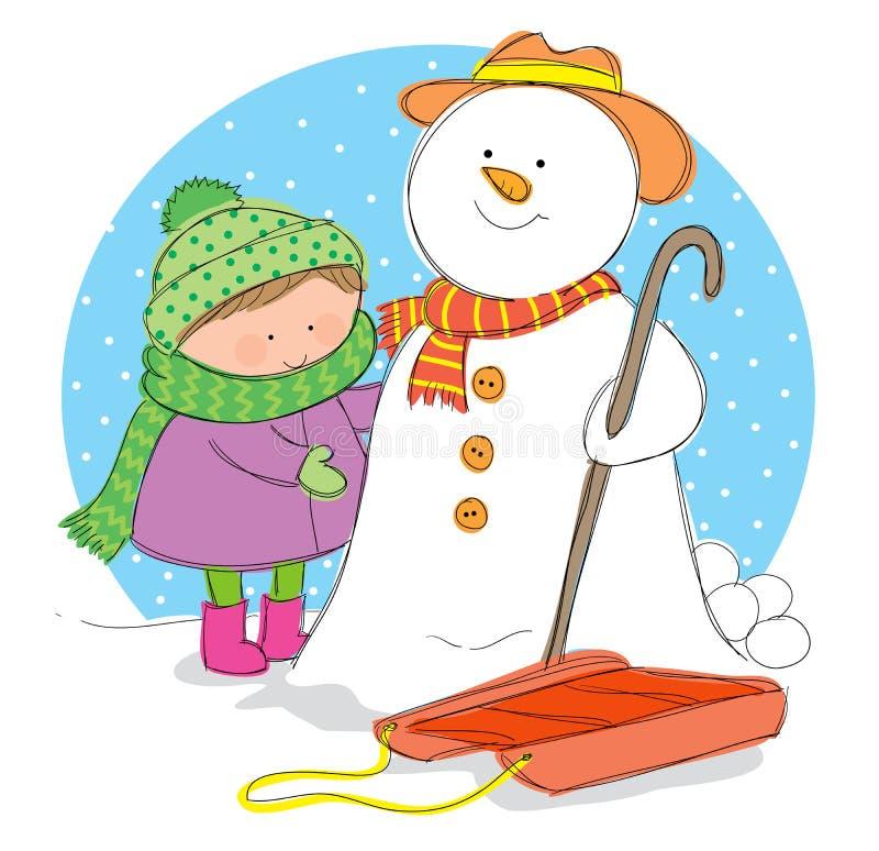 Vintersäsong stock illustrationer