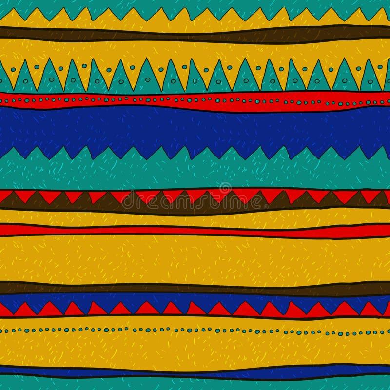 Räcka utdraget mönstrar stock illustrationer