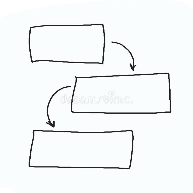 Räcka utdragna diagram eller diagramsymboler till conc information om förlaga royaltyfri foto