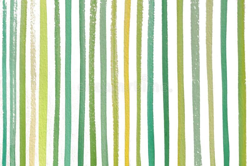 Räcker naturliga kulöra band för grön gul vår den målade vattenfärgmodellen arkivfoton