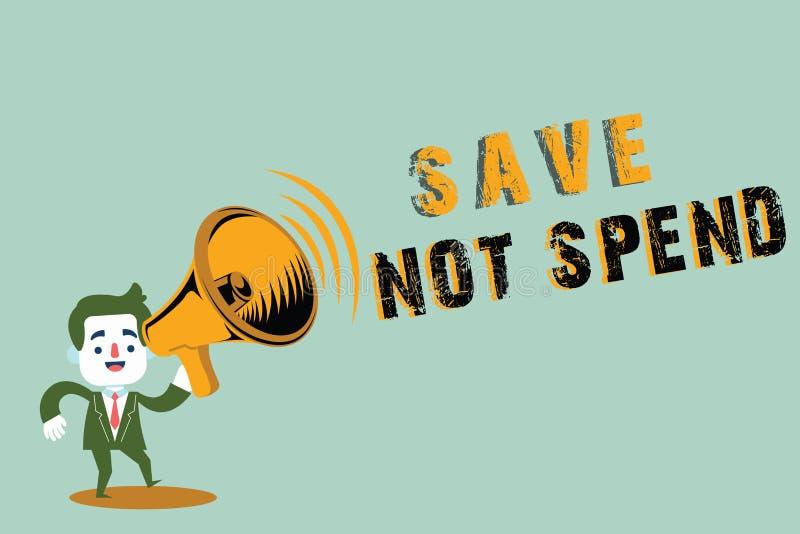 Räddning för handskrifttexthandstil att inte spendera Begreppsbetydelse som håller pengar för investering, i stället för att köpa arkivbilder