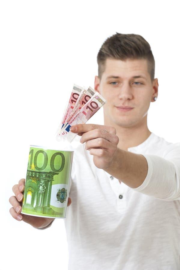 Räddningpengar arkivbild