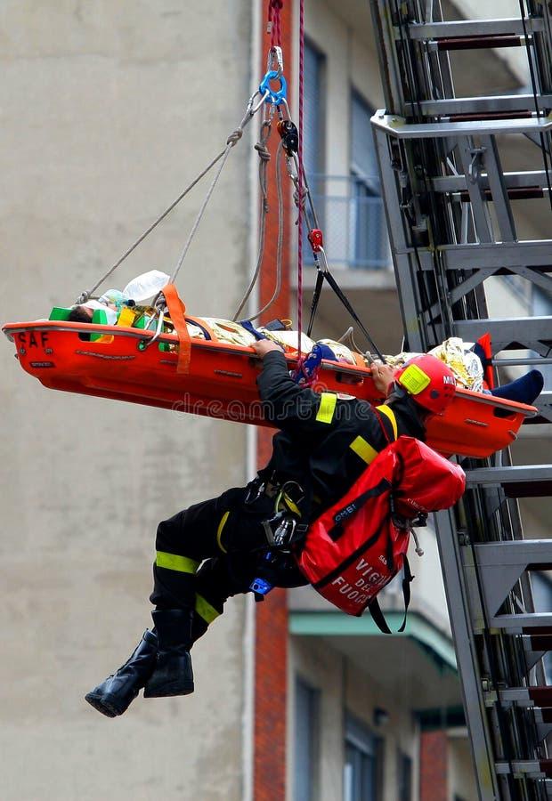 räddningsaktion fotografering för bildbyråer