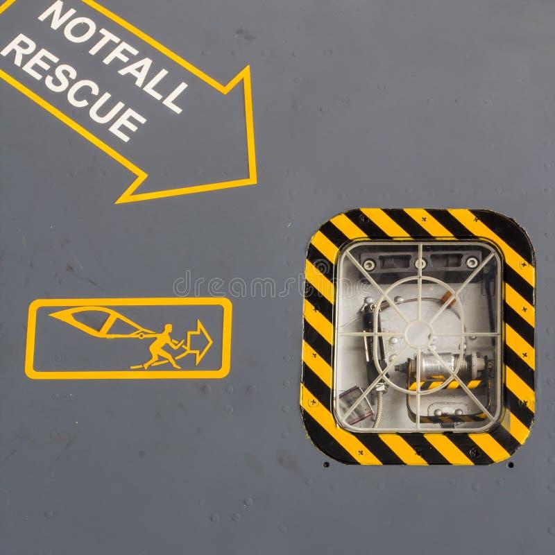 Räddningsaktion av flygplan royaltyfri fotografi