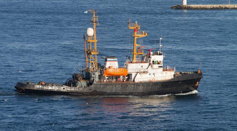 Räddningsaktionfartyg royaltyfria foton
