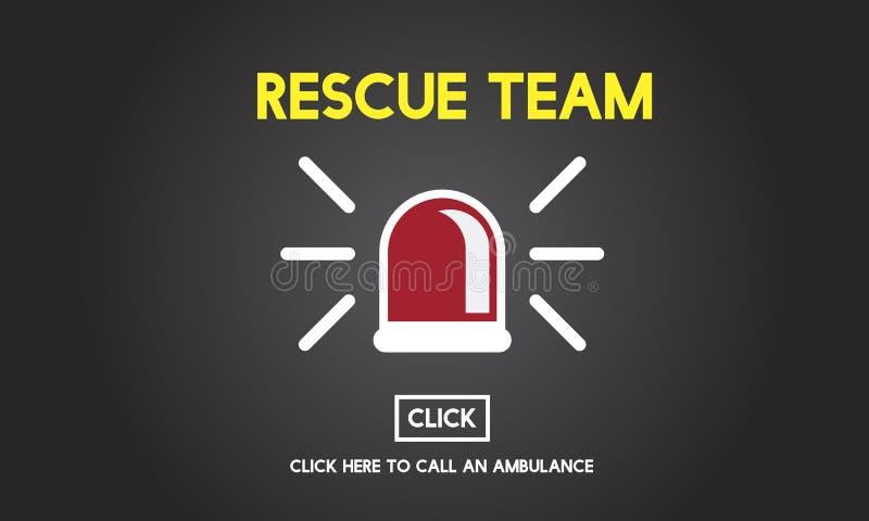 RäddningsaktionTeam Paramedic Support Help Emergency begrepp vektor illustrationer