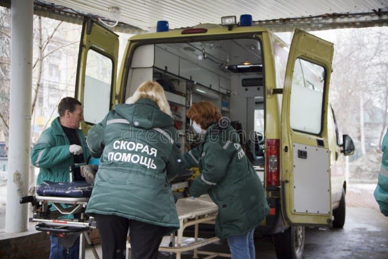 Räddningservice i Ryssland arkivfoto