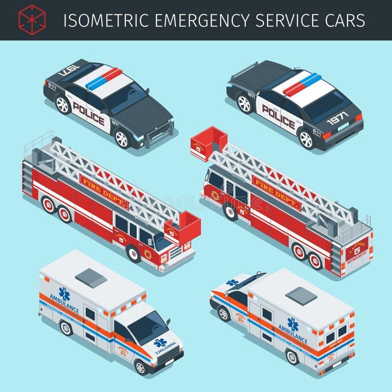 Räddningstjänstbilar stock illustrationer