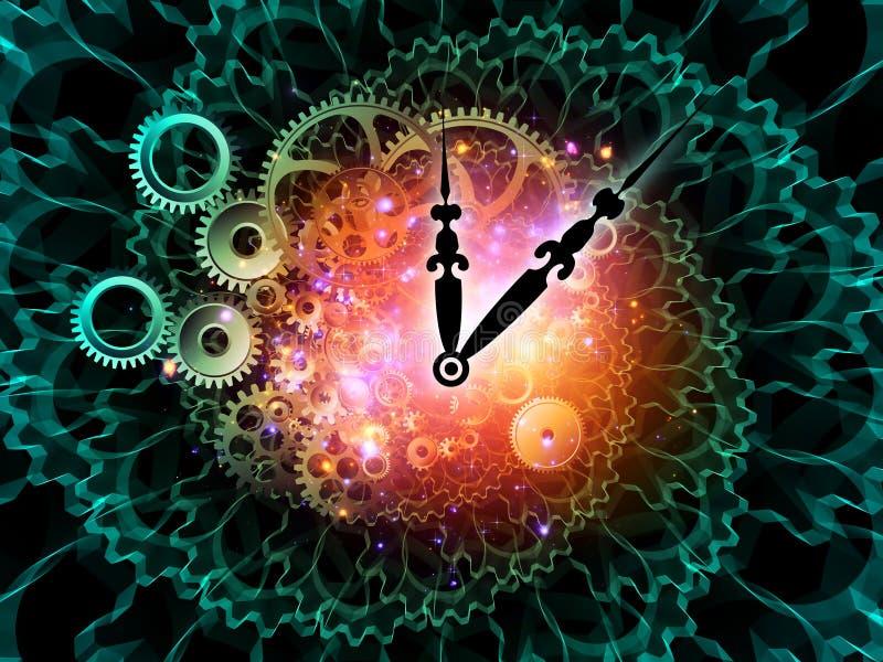 Räder der Zeit lizenzfreie abbildung