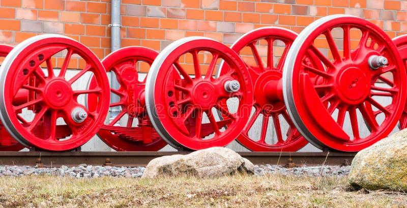 Räder einer Dampflokomotive stockfotografie