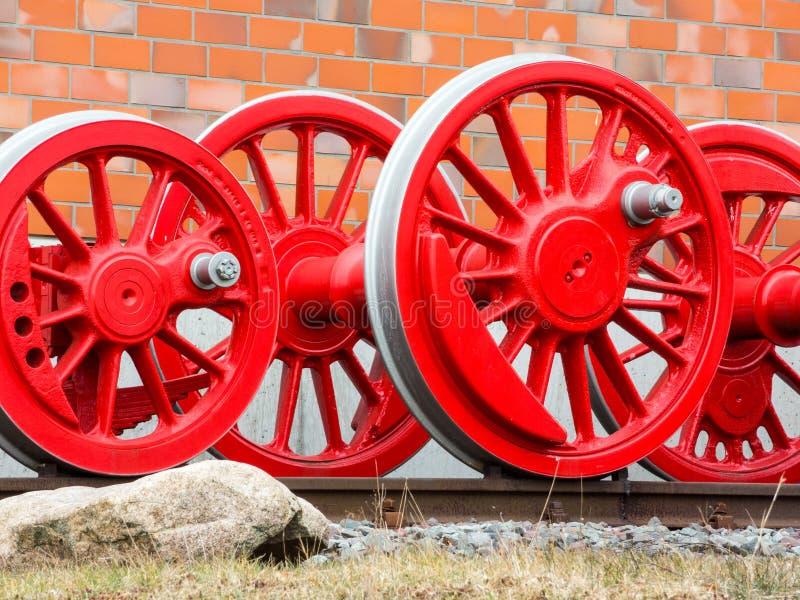 Räder einer Dampflokomotive lizenzfreie stockfotografie