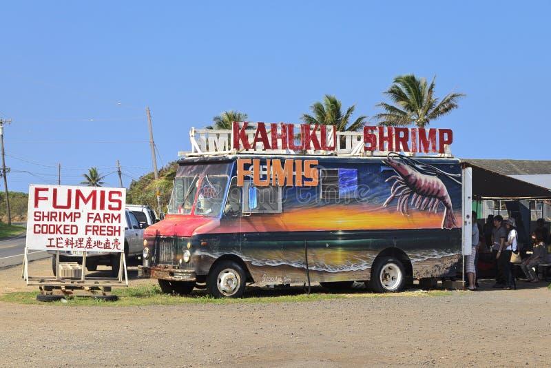 Räkalastbil på oahu arkivbilder