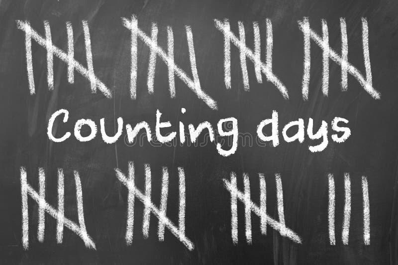 räkna dagar arkivfoton