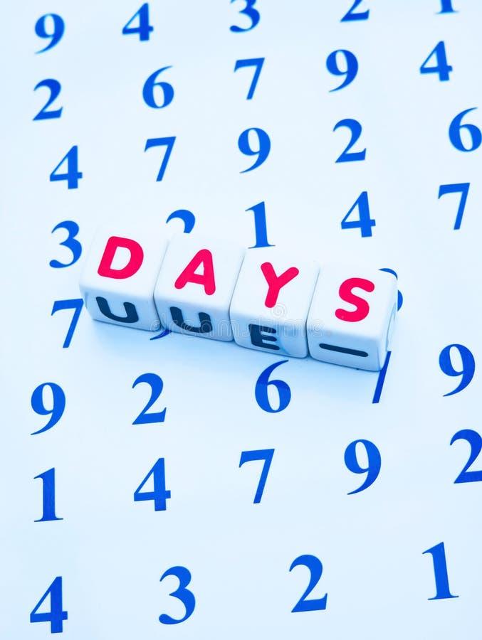 Räkna dagarna arkivbild