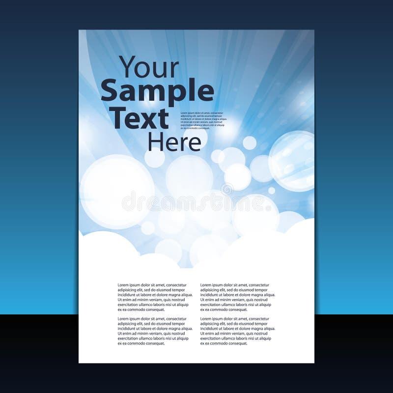 räkna designreklambladet vektor illustrationer