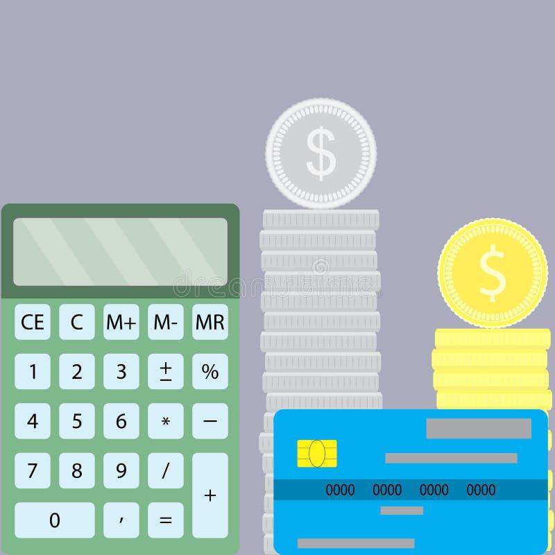 Räkna finansdesignlägenheten royaltyfri illustrationer