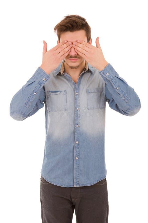 Räkna hans ögon fotografering för bildbyråer