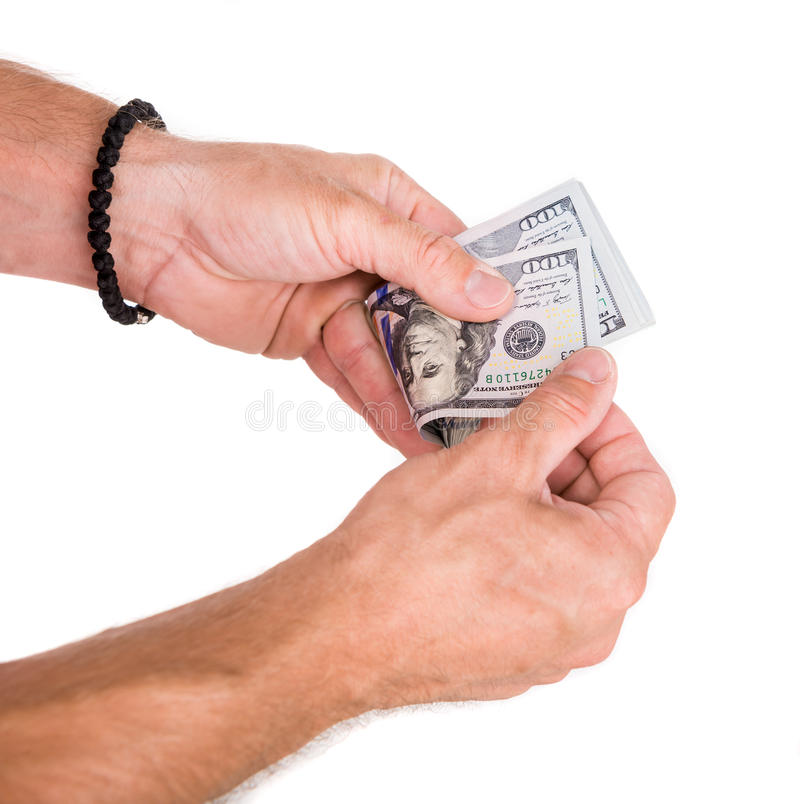 räkna manpengar arkivbilder
