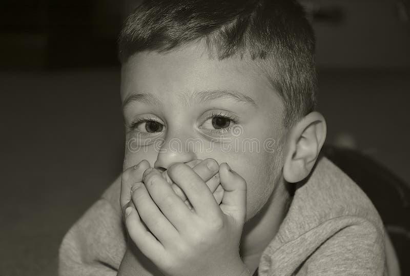 räkna munlitet barn royaltyfri bild