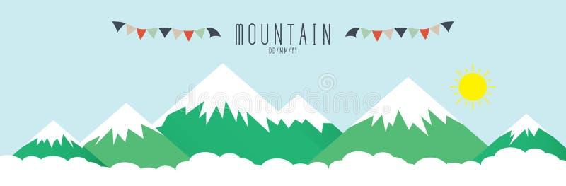 räknad hög bergsnow stock illustrationer