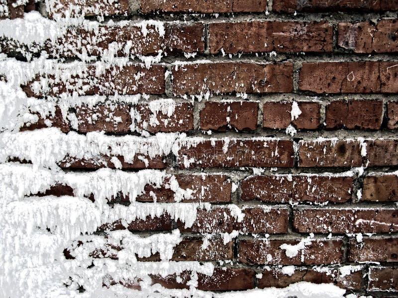 räknad snowvägg royaltyfri fotografi