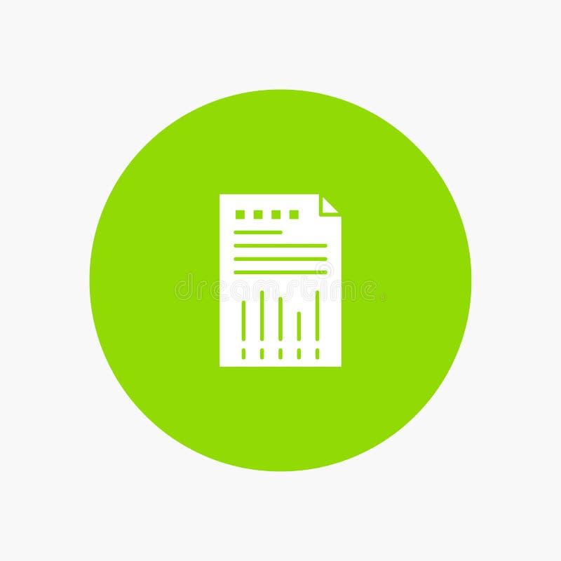 Räkneark affär, data som är finansiella, graf, papper, rapport vektor illustrationer