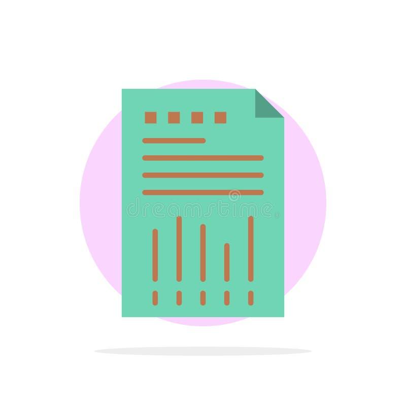 Räkneark affär, data som är finansiella, graf, papper, symbol för färg för bakgrund för rapportabstrakt begreppcirkel plan stock illustrationer