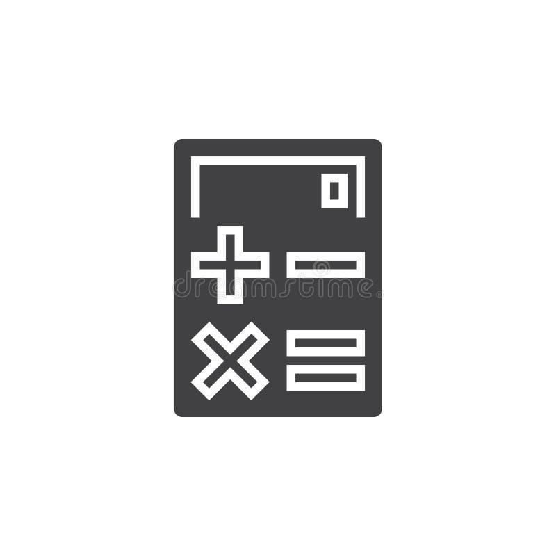 Räknemaskinsymbolsvektor, fast logo, pictogram som isoleras på vit, vektor illustrationer