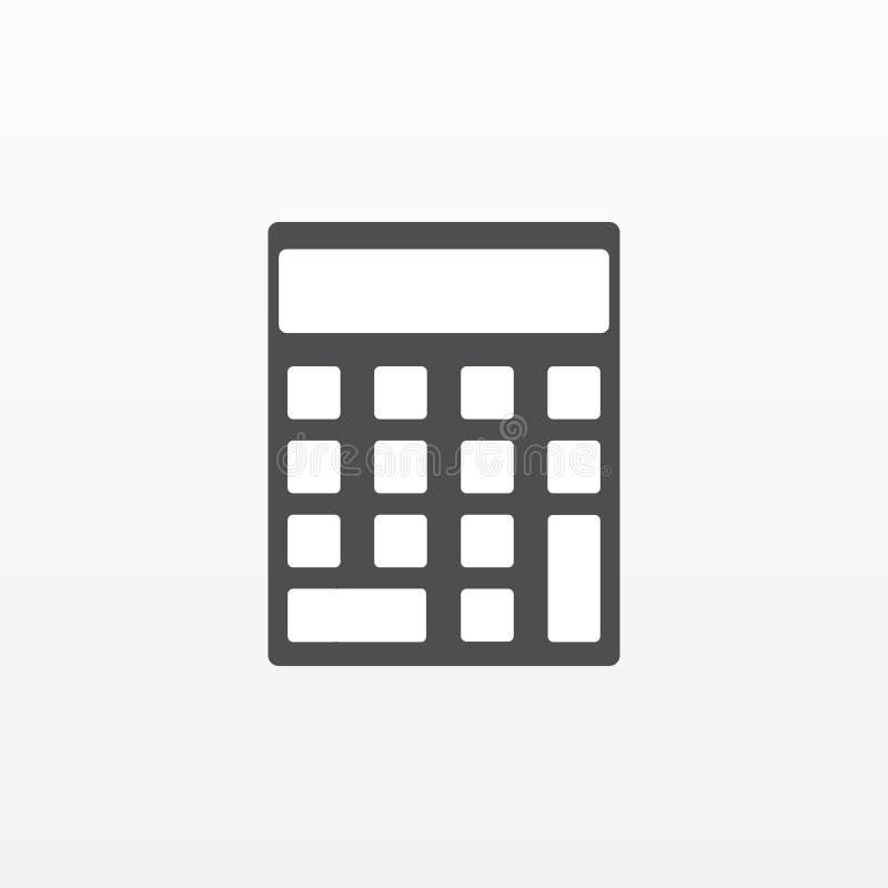 Räknemaskinsymbolsvektor Plant symbol som isoleras på vit bakgrund Moderiktigt internetbegrepp Modern si royaltyfri illustrationer