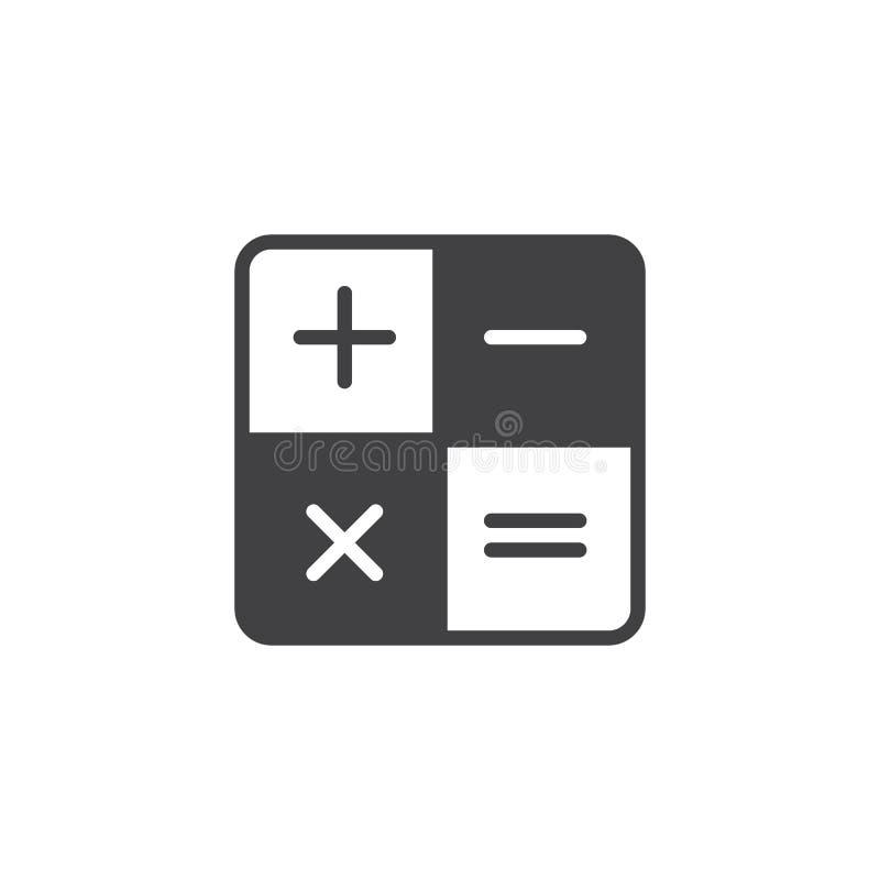 Räknemaskinvektorsymbol royaltyfri illustrationer