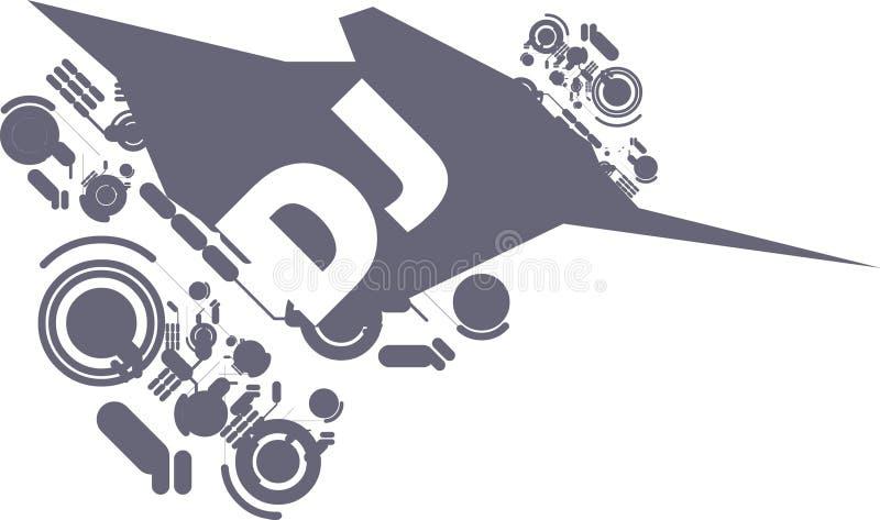 räkning dj stock illustrationer