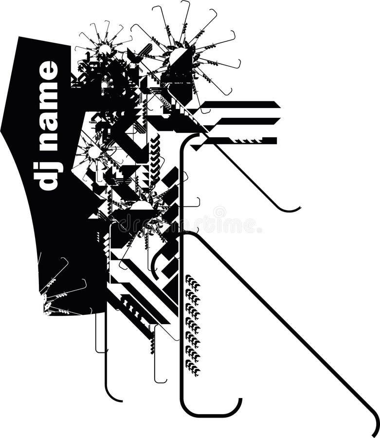 räkning dj vektor illustrationer