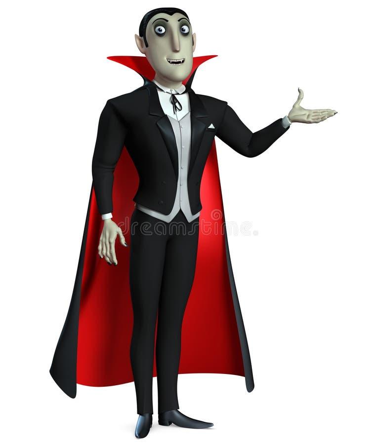 Räkning Dracula royaltyfri illustrationer