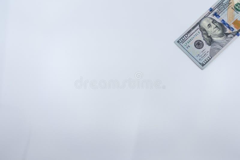 $100 räkning isolerad närbild Rikedom och finansbegrepp royaltyfri foto