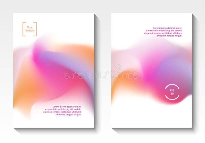 Räkningar för flödesdesignvektor stock illustrationer