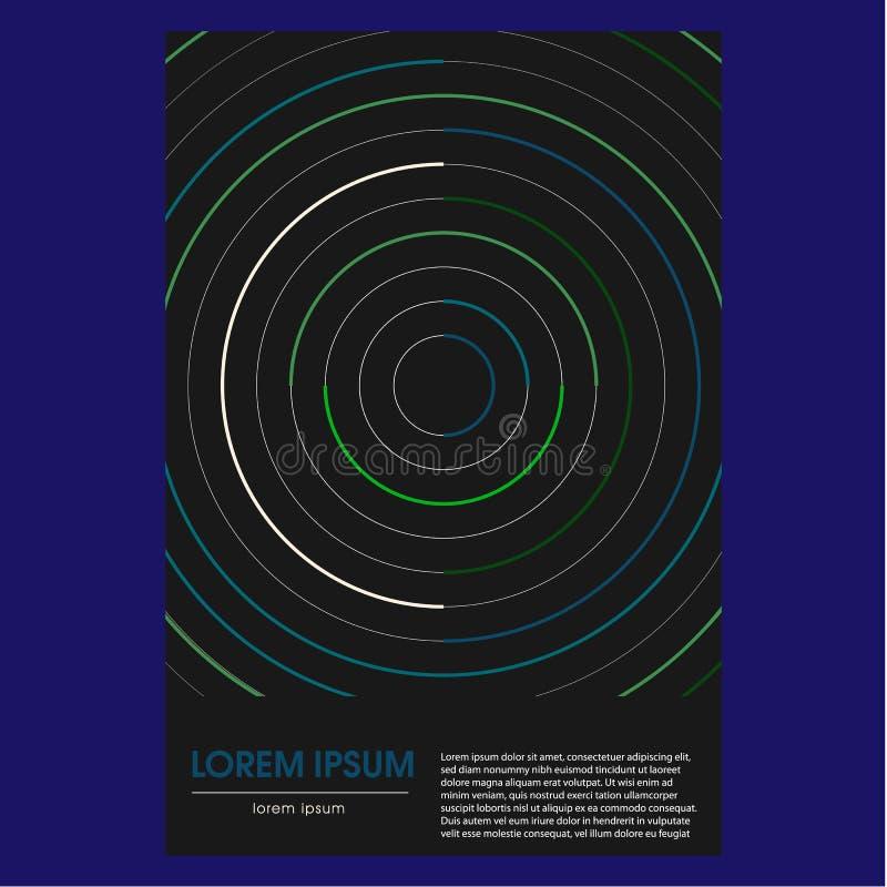Räkningar med abstrakt design Kalla geometriska bakgrunder för din design Tillämpbart för baner, plakat, affischer, reklamblad Ab vektor illustrationer