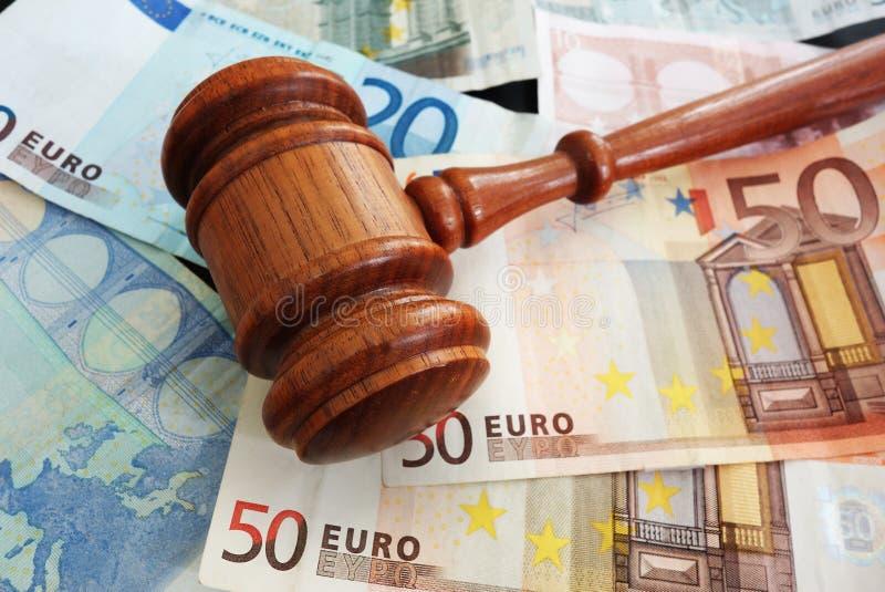 Räkningar och euro royaltyfria foton