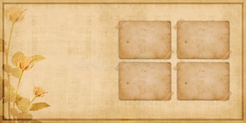 räkningen inramniner portföljtappning royaltyfri illustrationer