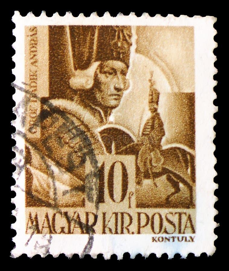 RäkningsAndras Hadik fältmarskalk 1710-1790, tecken och reliker av ungersk historieserie, circa 1943 royaltyfri fotografi