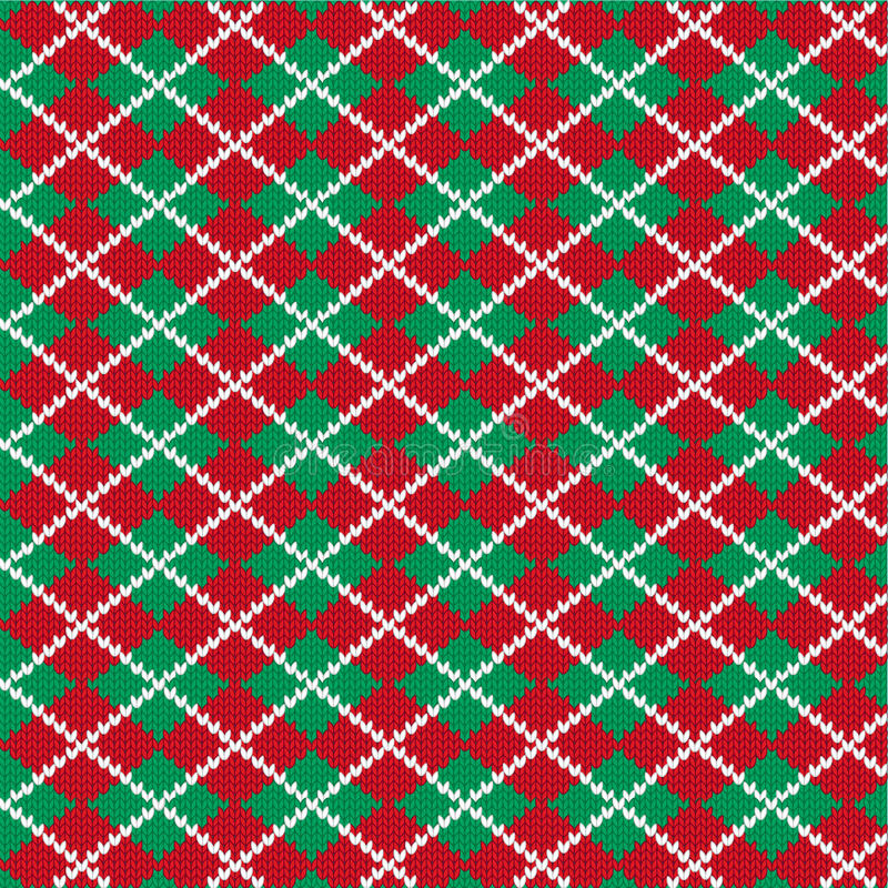 Rät maska Argyle Pattern royaltyfri illustrationer