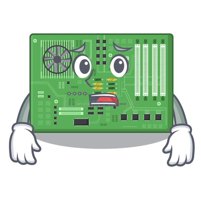 Rätt moderkort i a-datortecknade filmen stock illustrationer