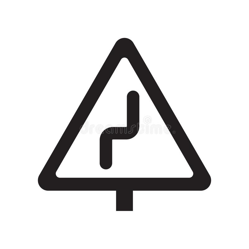 Rätten vänder om krökningteckensymbolen  vektor illustrationer