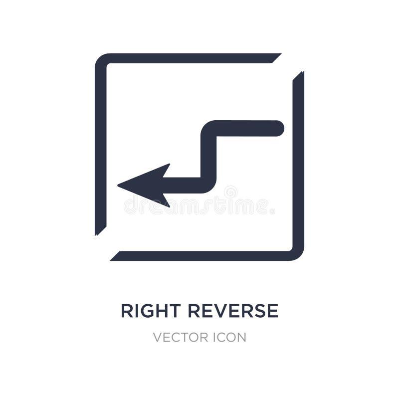 rätten vänder om kurvsymbolen på vit bakgrund Enkel beståndsdelillustration från översikts- och flaggabegrepp vektor illustrationer