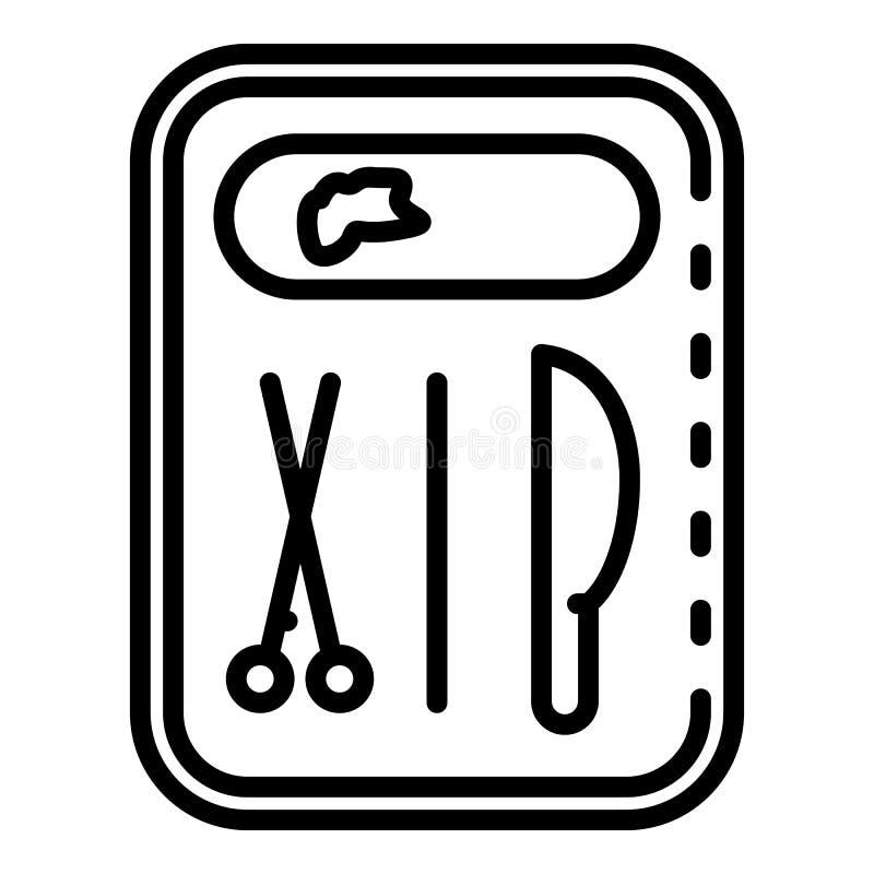 Rättsmedicinsk hjälpmedelsymbol, översiktsstil vektor illustrationer