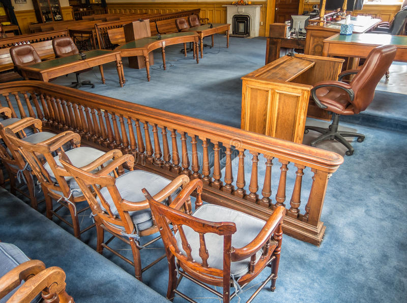 Rättssal Storey County domstolsbyggnad arkivbild
